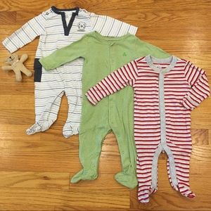 Baby Boys Footsie Pajama & One Piece Bundle